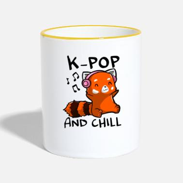 Korea K Pop and chill - K-Pop Fan Design - Tasse zweifarbig