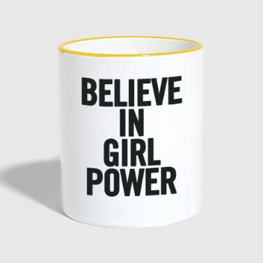 Girl Power Believe In Black - Tofarvet krus