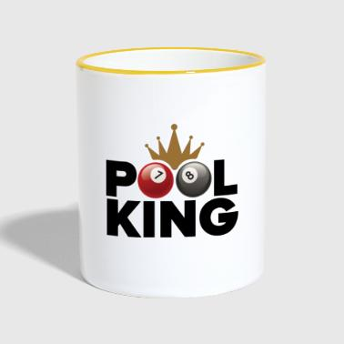 Pool king - Kubek dwukolorowy