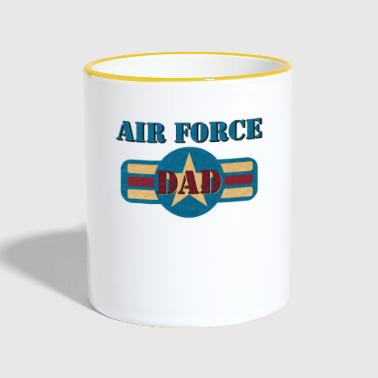 Vintage US Air Force USAF Dad Geschenk Military - Tasse zweifarbig