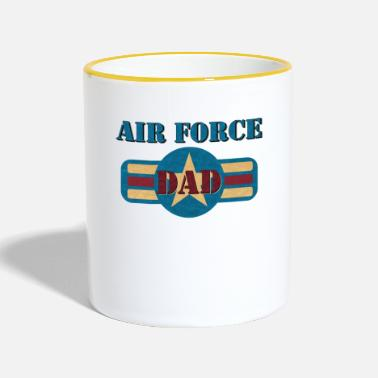 Us Vintage US Air Force USAF Dad Geschenk Military - Tasse zweifarbig
