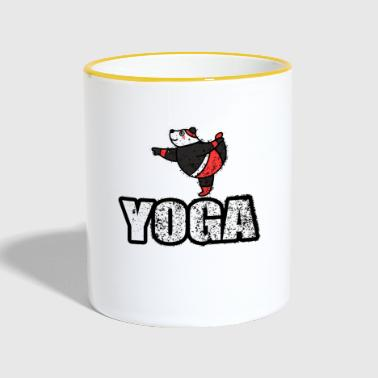 Dans Yoga Bear Retro New Age - Tvåfärgad mugg