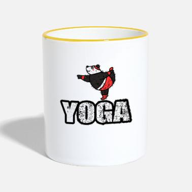 New Age Yoga baile oso retro del New Age - Taza en dos colores