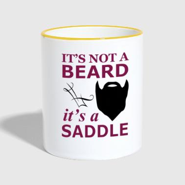 It is not a beard, but a saddle - Contrasting Mug