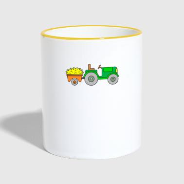 Tractor - tractor with trailer - tractor - Contrasting Mug