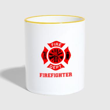 Firefighters parents - Contrasting Mug