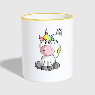 Unicorn and Life - Unicorns - Unicorn - Dead - Contrasting Mug