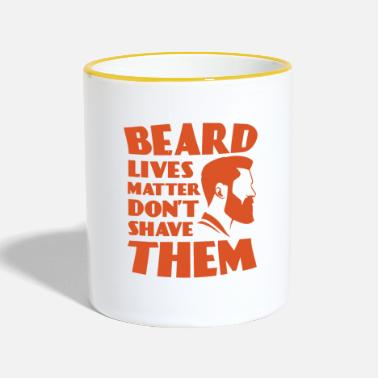 Gezichtshaar Cool Beard Lives Matter Do not Shave TShirt - Mok tweekleurig
