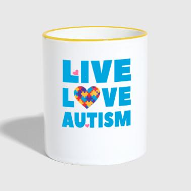 Autism Awareness - Live Love Autism - Contrasting Mug