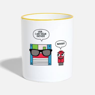 Mathelehrer Nerd Geek Mathematik mathe Pi piday science maths. - Tasse zweifarbig