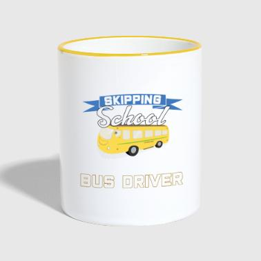 School Bus Buschauffeur Schoolbus Busdriver School Off - Mok tweekleurig