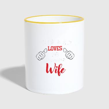 Dear husband wife wedding day Valentine's Day - Contrasting Mug