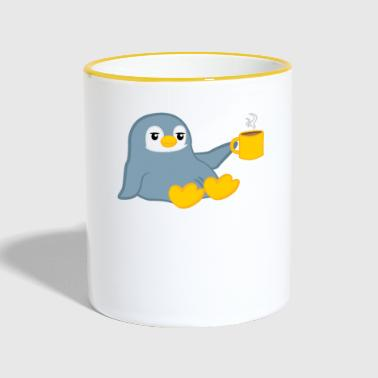 Penguin - penguins - penguin motif - coffee - Contrasting Mug