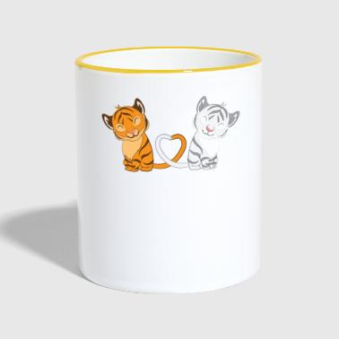 Tiger - Tiger fan - Tiger lover - Tiger love - Contrasting Mug