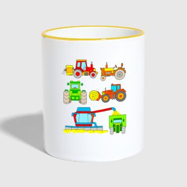 Tractors for children - vehicles on the farm - Contrasting Mug