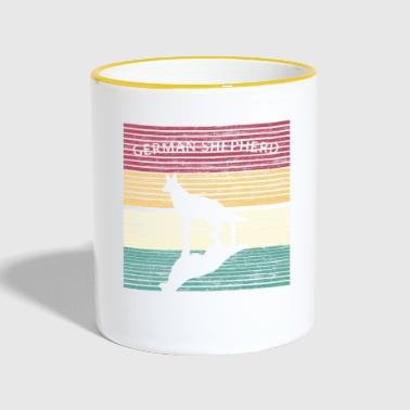 German Shepherd German Shepherd Retro - Contrasting Mug