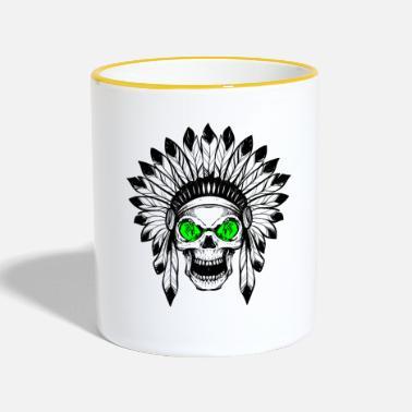 Regalo - INDIAN DEAD HEAD verde - Taza en dos colores