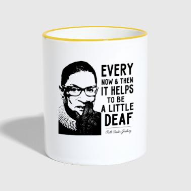 Every now and then it helps to be a little deaf - Contrasting Mug
