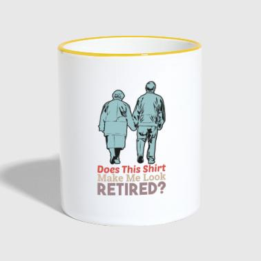 Pension pension retirement gift - Contrasting Mug
