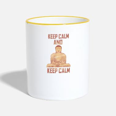 Keep Calm Keep calm and keep calm - Contrasting Mug
