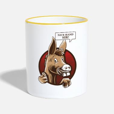 Holdem Camiseta Donkey Poker Player - Texas Holdem Poker - Taza en dos colores
