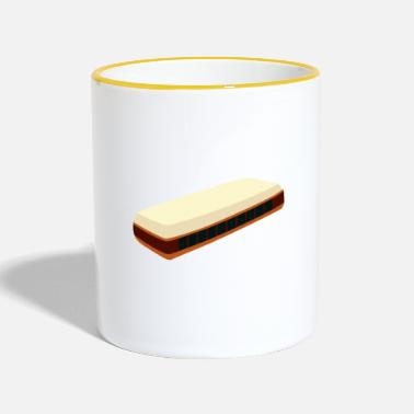 Instrument Harmonica Musical Instrument Wind Instrument - Contrasting Mug