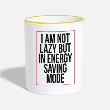 Bum I'm not lazy, but in energy saving mode! - Contrasting Mug