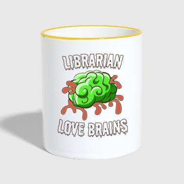Librarian Love Brains - Contrasting Mug