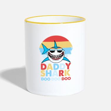 Daddy Father Shark Daddy Shark Doo Doo Dad Gift - Contrasting Mug