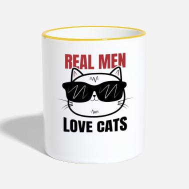 Cat lovers Cats Kittens Animal lover Meow - Contrasting Mug