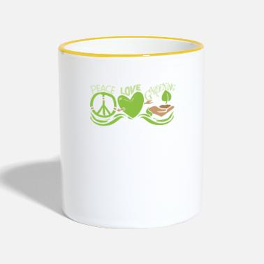 Root Crop Peace Love Gardening Horticulture - Two-Tone Mug