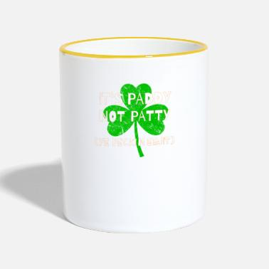 Feckin Feckin Eejit Distressed for St Paddy's Day - Two-Tone Mug