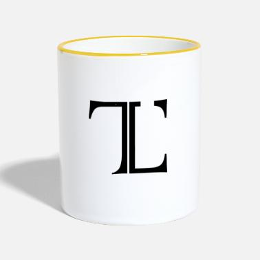 Tlc Logotipo original atemporal - Taza en dos colores