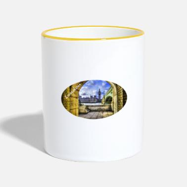 Westminster London / Westminster Bridge and Big Ben - Two-Tone Mug