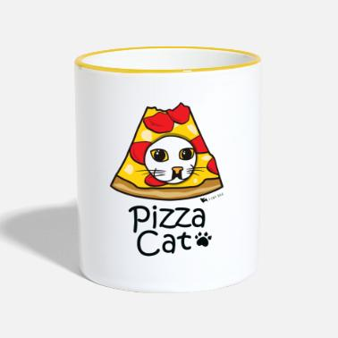 Pizza Pizza Cat - Kubek dwukolorowy