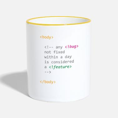 Computer Any bug not fixed becomes a feature of computer science - Contrasting Mug