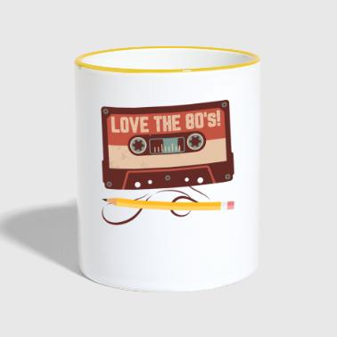 Love the 80s - Cassette with Pencil - Gift - Contrasting Mug