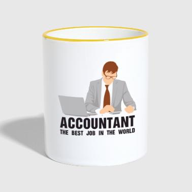 The comptroller works the accounthold career - Contrasting Mug