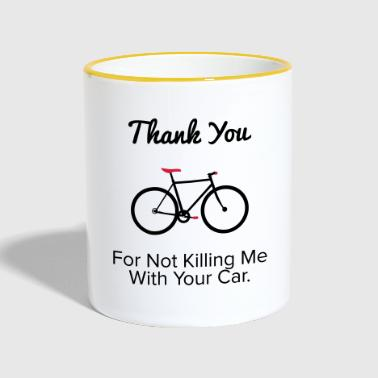 Thank you - For the provocative cyclist. - Contrasting Mug