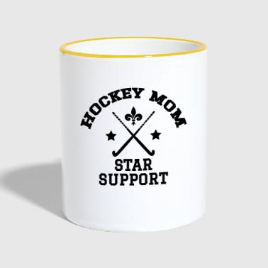 Hockey Mom - Star Support - Tasse zweifarbig