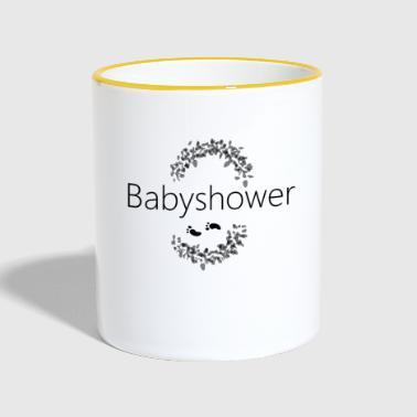 babyshower baby shower baby - Taza en dos colores