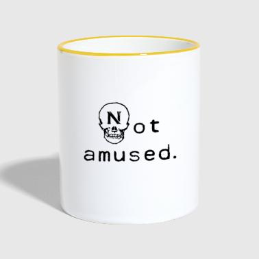 Not amused Skull Skull Fun - Contrasting Mug