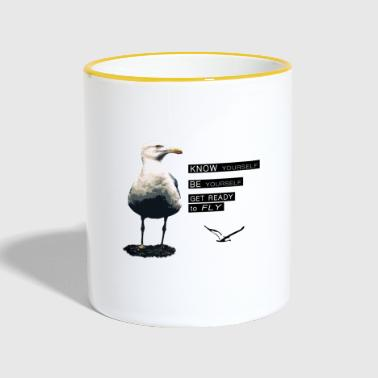 The philosophy of life of the seagull - Contrasting Mug