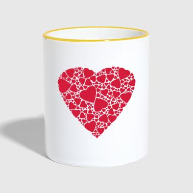 Heart of hearts Love in love Gift - Contrasting Mug