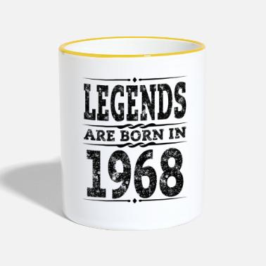 Verjaardag Legends is Geboren 1968 50th Birthday Gift - Mok tweekleurig