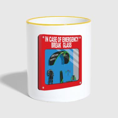 Kiteboard In case of emergency Break glass - Mug contrasté