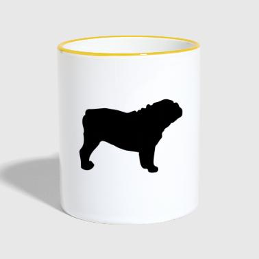 ENGLISH BULLDOG - ENGLISH BULLDOG Silhouette - Mug contrasté
