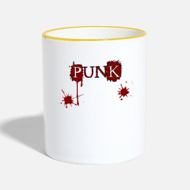 Ska Punk Punk!!! Punk Rock Oi SKA motif music - Two-Tone Mug