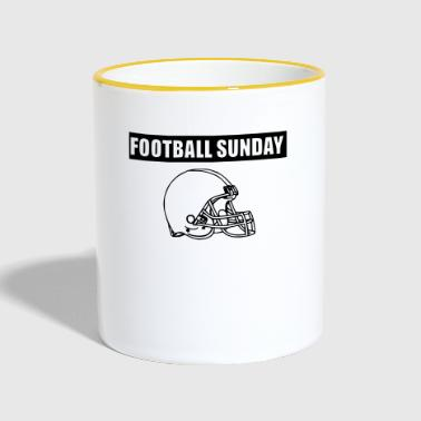 FOOTBALL SUNDAY - Contrasting Mug