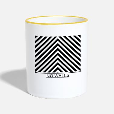 Wall NO WALLS - No walls - Two-Tone Mug